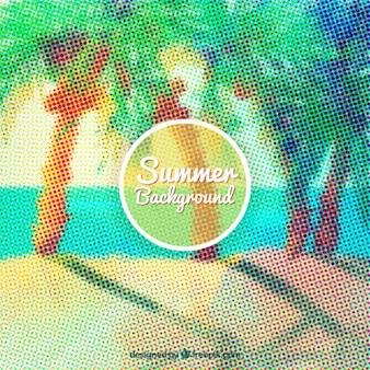 Gepunktete sommer hintergrund