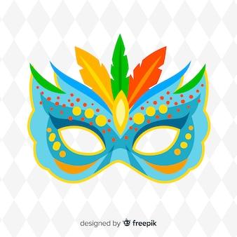 Gepunkteter brasilianischer karnevalshintergrund der maske