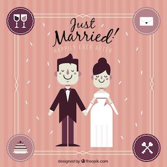Gerade im vintage-stil verheiratet