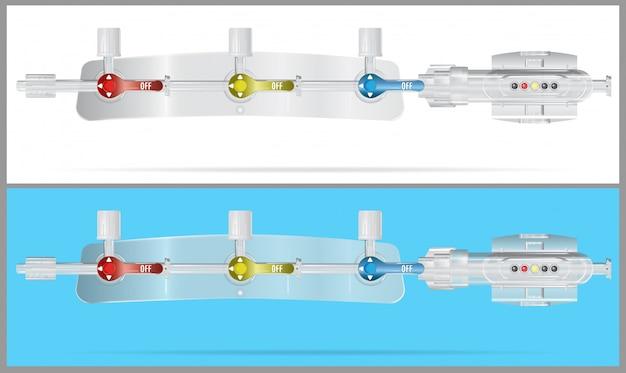 Gerätekomponenten des systems für intravenöse infusionen umwandeln