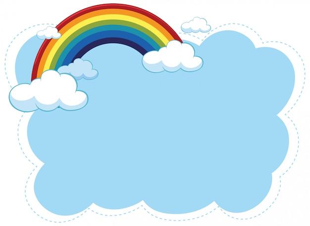 handgezeichneter regenbogen  kostenlose vektor