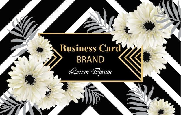Gerber daisy blumen postkarte vektor. luxus-visitenkarte abbildung. abstrakte hintergründe