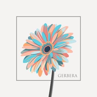 Gerbera-blumen-ilustration-vektor