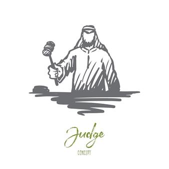 Gerechtigkeit illustration in der hand gezeichnet