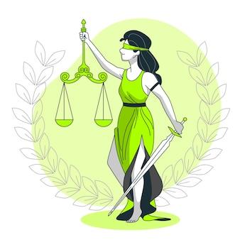 Gerechtigkeit konzeptillustration
