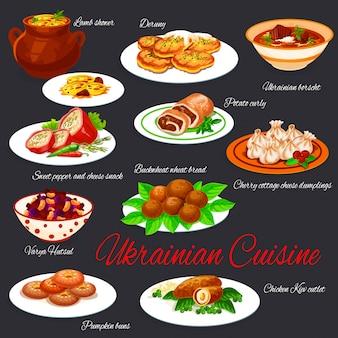 Gerichte der ukrainischen nationalen küche,