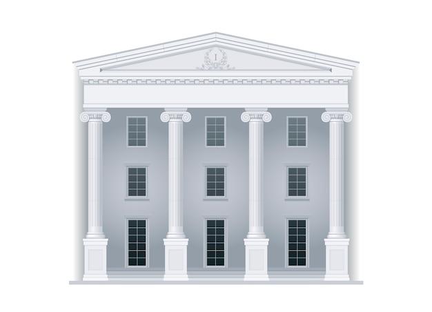 Gerichtsgebäude im klassischen stil