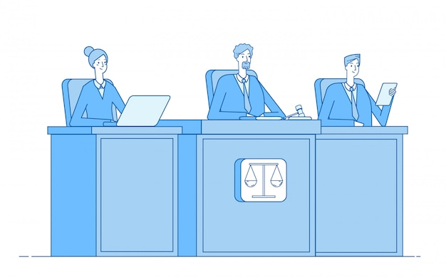 Gerichtshof. angeklagter des gerichtsverfahrens strafrechtsanwalt gerichtsgebäude justiz strafgerichtssaal justizkonzept
