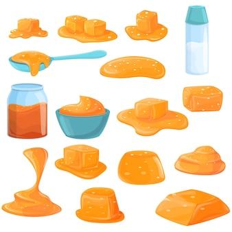 Gesalzene karamellen gesetzt.