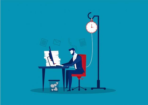 Geschäft auf tisch harte arbeit konzept vektor