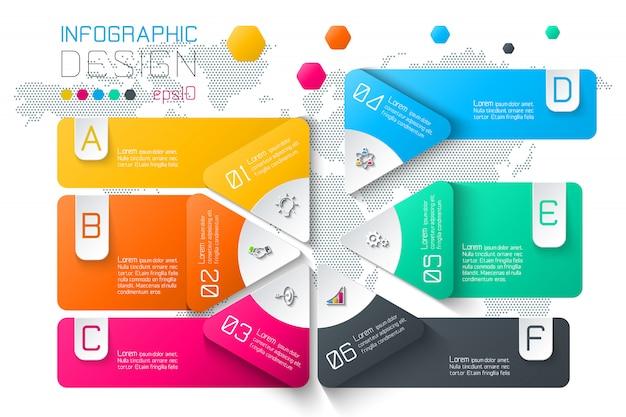 Geschäft beschriftet infographik auf zwei schichten kreisstange.