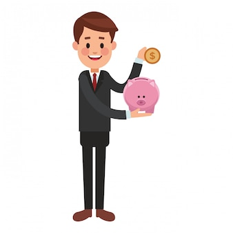 Geschäft, das geldkarikatur spart