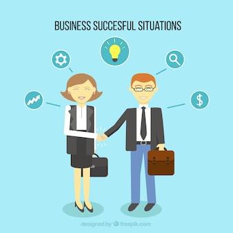 Geschäft erfolgreich situationen