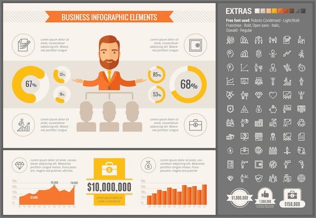 Geschäft flaches design infographik vorlage