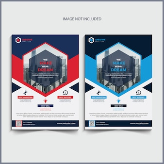 Geschäft flyer design
