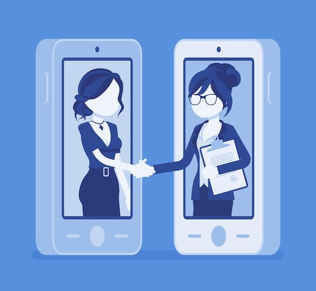 Geschäft für mobile frauen, kommerzielle geschäftsvereinbarung