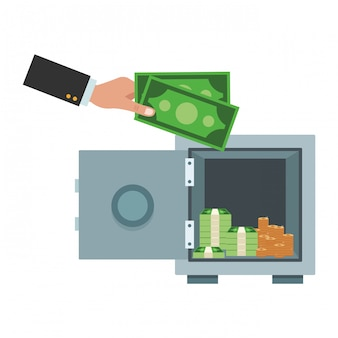 Geschäft geld sparen element