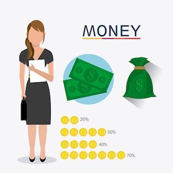 Geschäft, geld und personal