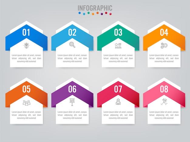 Geschäft infografik etiketten vorlage mit option