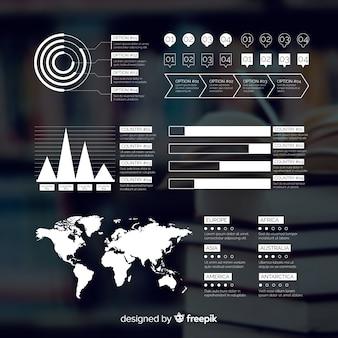 Geschäft infografik mit bild