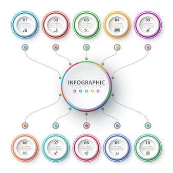 Geschäft infografik. papier-origami-vorlage