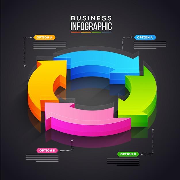 Geschäft infografik.