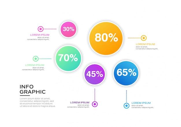Geschäft infografik