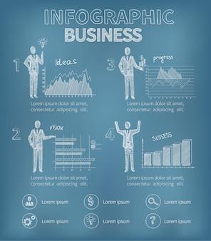 Geschäft infografiken gesetzt