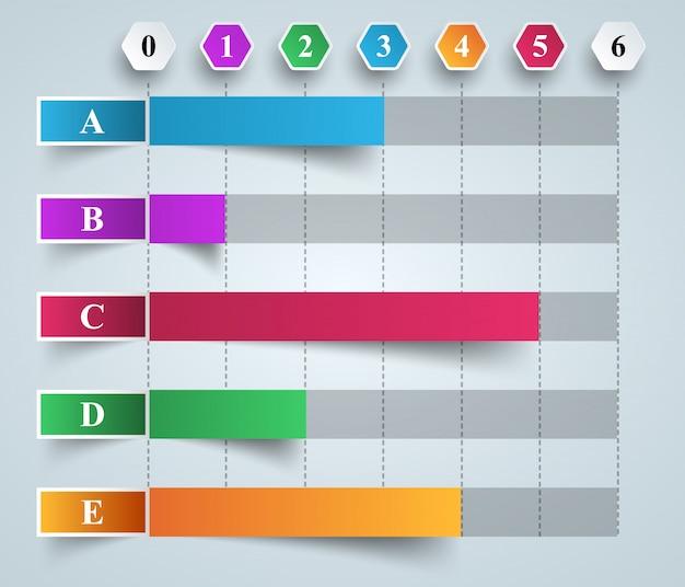 Geschäft infografiken origami-stil