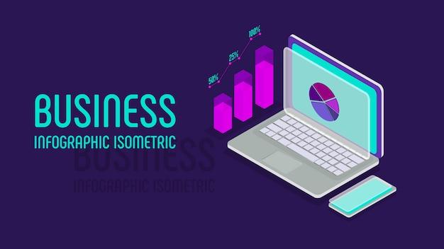 Geschäft infographic, isometrisches artkonzept