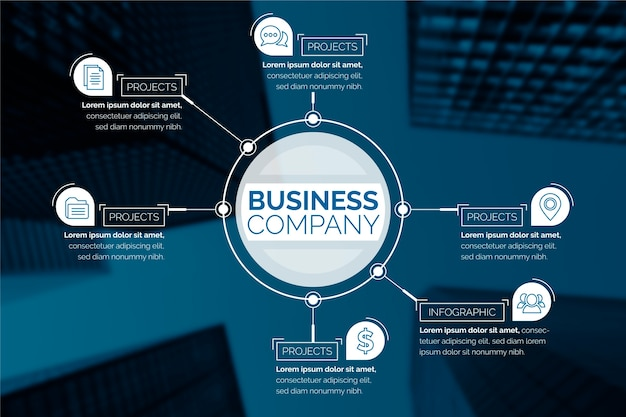 Geschäft infographic mit bild