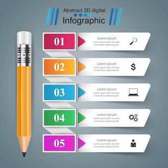 Geschäft infographic.