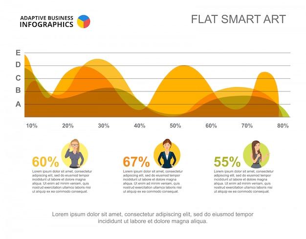 Geschäft infographics mit bereichsdiagramm- und -charaktikonen.