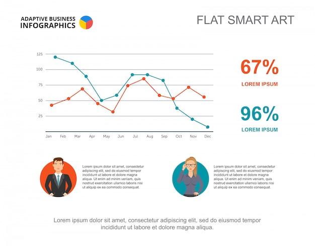 Geschäft infographics mit liniendiagramm- und wirtschaftlerikonen.