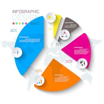 Geschäft infographik auf diagrammleiste.