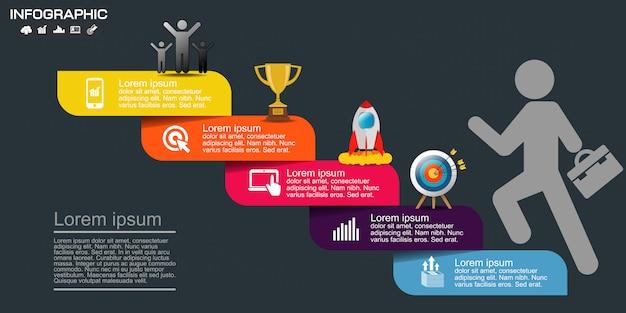 Geschäft infographik elemente vorlage.