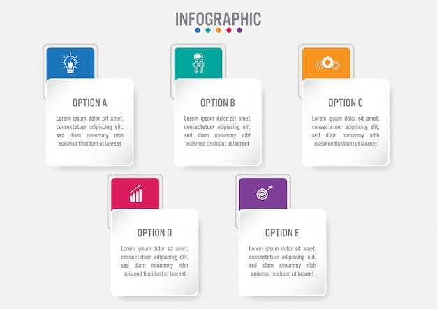 Geschäft infographik etikettenvorlage