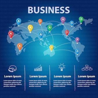 Geschäft infographik vorlage.