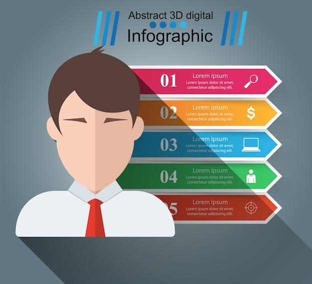 Geschäft infographik