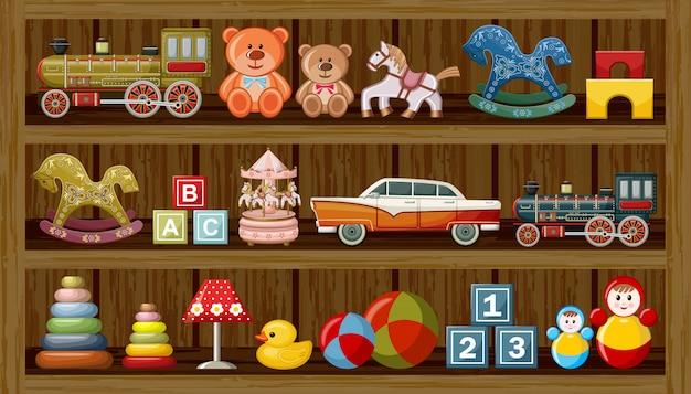 Geschäft mit vintage-spielzeug.