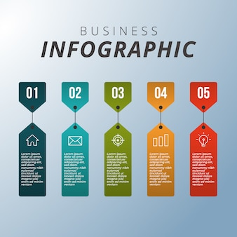 Geschäft moderne infographik