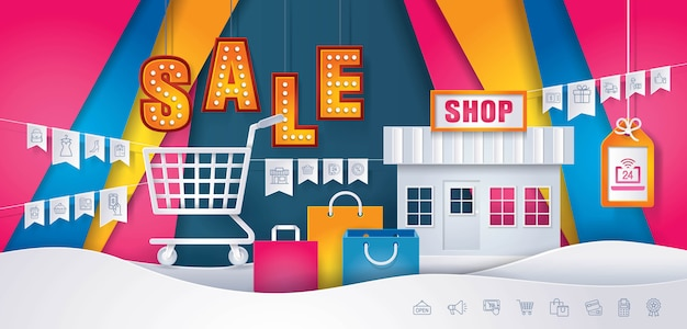 Geschäft online-shop