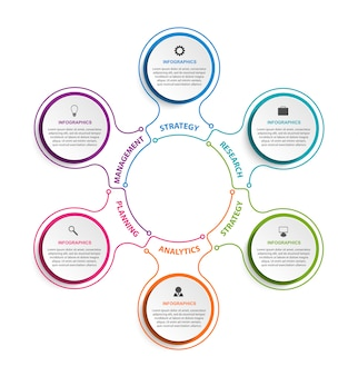 Geschäft optionen infografiken elemente