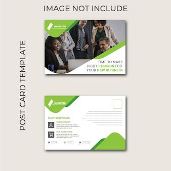 Geschäft postkarte vorlage