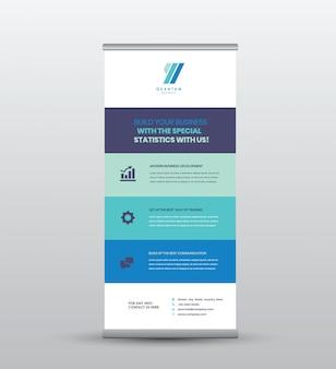 Geschäft rollen oben stehendes fahnen- u. plakat-design