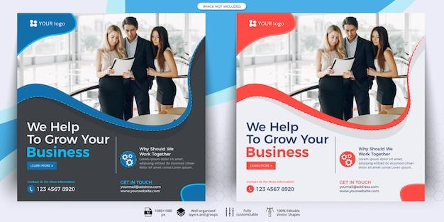 Geschäft social media beitrag