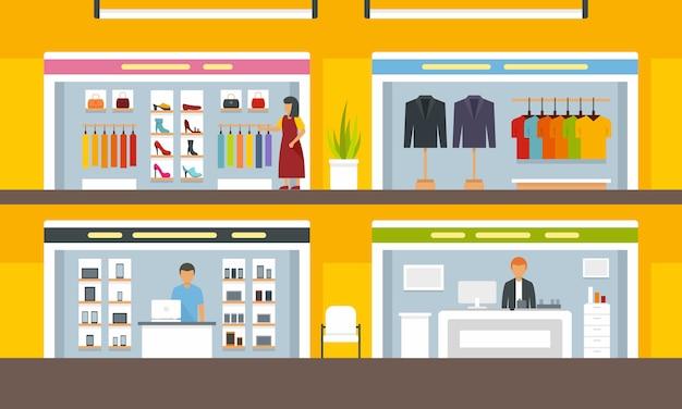 Geschäfte im einkaufszentrum