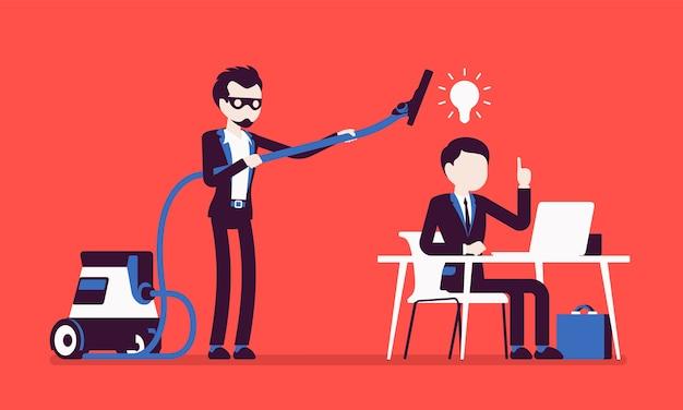 Geschäftliche gute ideen stehlen