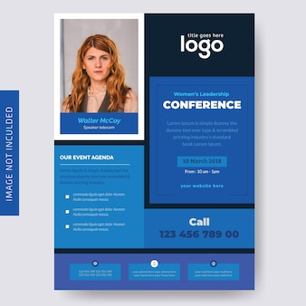 Geschäfts-conference-flieger-design