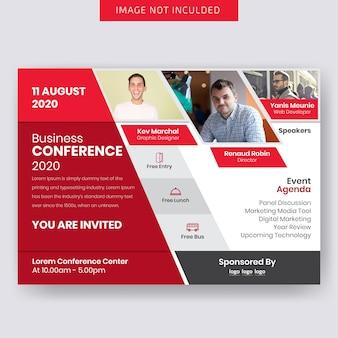 Geschäfts-conference horizontales flieger-design